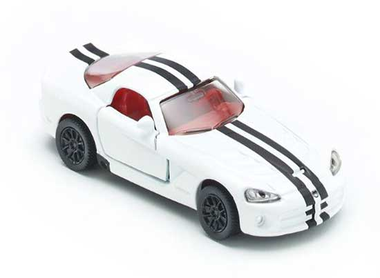 Mini Scale White Kids SIKU 1434 Diecast Dodge Viper Toy