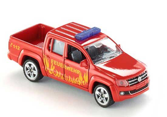 Red Kids SIKU 1467 Fire Engine Diecast VW Pickup Truck Toy