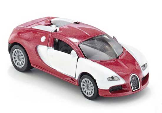 Red-White Kids SIKU 1305 Diecast Bugatti Veyron EB Toy