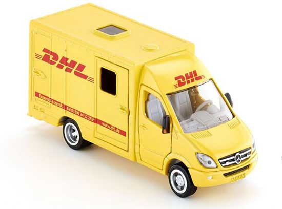 Yellow Kids 1:50 SIKU 1936 DHL Diecast Mercedes-Benz Van Toy