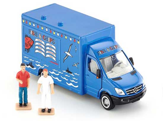 Blue 1:50 Kids SIKU 1933 Diecast Mercedes-Benz Van Toy