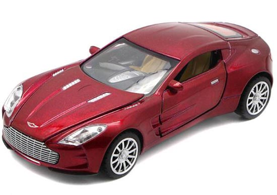 Red / White / Black / Orange Kid Diecast Aston Martin One 77 Toy