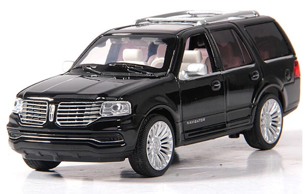 1:36 Kids Golden / Black / Red Diecast Lincoln Navigator Toy