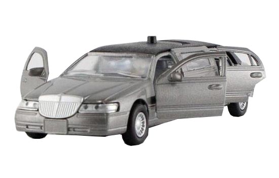 1:38 Kids Gray / White / Black Diecast Lincoln Limousine Toy