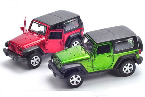 1:43 Pull-Back Function Green / Red Diecast Jeep Wrangler Toy