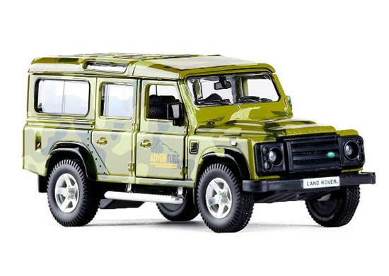 1:36 Kids Army Green / Khaki Diecast Land Rover Defender Toy
