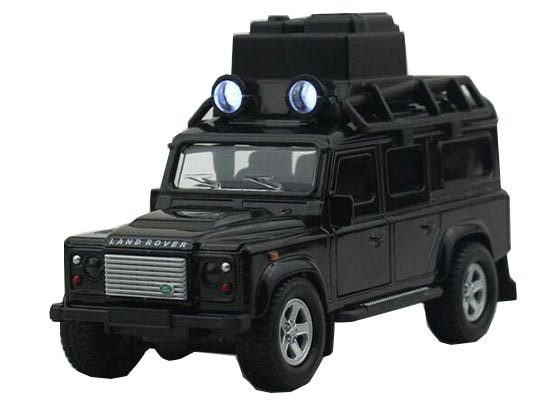 1:32 Scale Kids Black / White Diecast Land Rover Defender Toy
