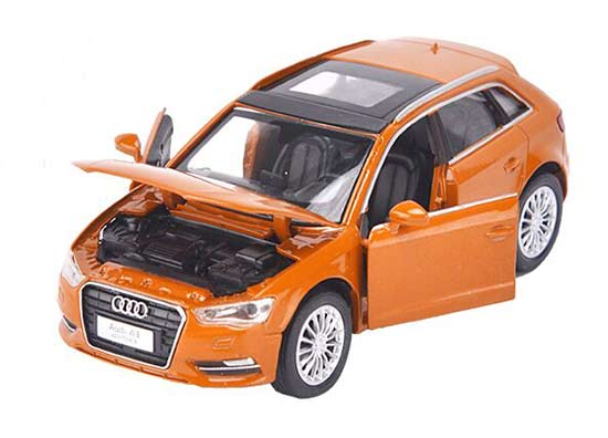 White / Orange / Red Kids Diecast Audi A3 Sportback Toy