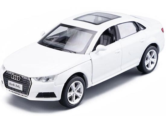 1:32 Scale White / Silver Kids Diecast Audi A4L Toy