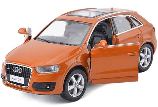 1:32 Scale Brown / White / Orange Kids Diecast Audi Q3 Toy
