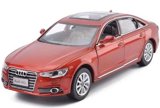 Kids Red / Silver / White / Black Diecast Audi A6L Toy