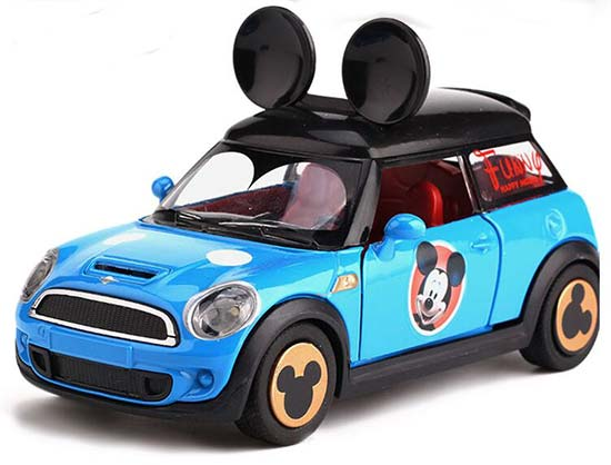 1:32 Scale Kids Red / Blue Diecast Mini Cooper Car Toy