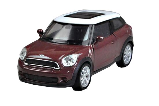 1:36 Kids Red / Brown Welly Diecast Mini Cooper Paceman Toy