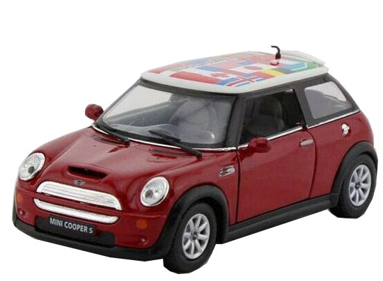 1:36 Kids Red / Blue / Yellow / Green Diecast Mini Cooper S Toy