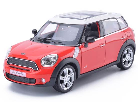 Kids White / Black / Red / Blue Diecast Mini Cooper Car Toy