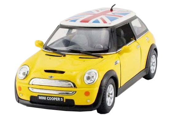 Kids 1:36 Yellow / Green / Red / Blue Diecast Mini Cooper S Toy