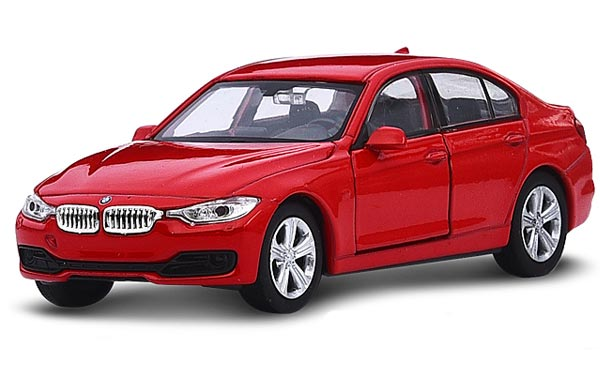 1:36 Scale Kids Welly Red Diecast BMW 3 Series 335i Toy