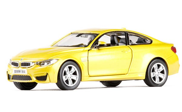 Yellow / Red 1:36 Scale Kids Diecast BMW M4 Car Toy