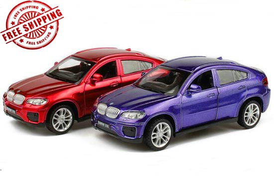 1:43 Scale Kids Red / Blue Diecast BMW X6 Toy