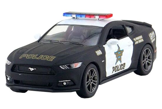 1:38 Scale Black Police Diecast Ford Mustang GT Toy