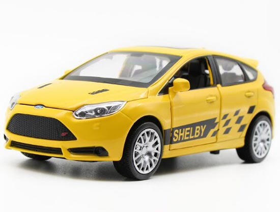 White / Red / Yellow / Green Kids Diecast Ford Focus ST Toy