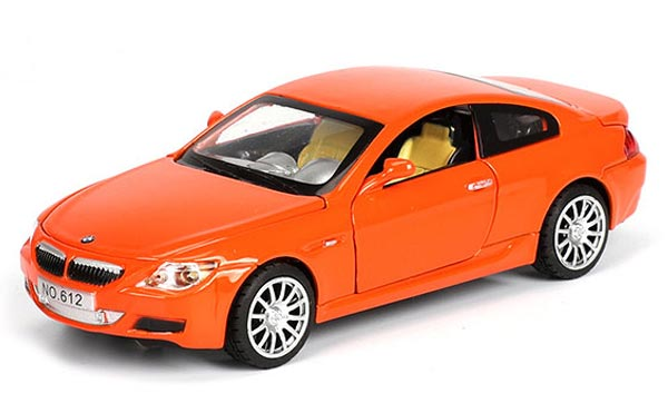 Kids Black / White / Orange / Blue Diecast BMW M6 Car Toy