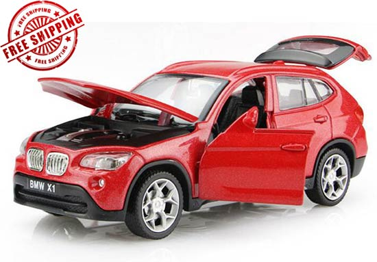 White / Blue / Red 1:32 Scale Kids Diecast BMW X1 Toy