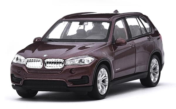 Kids Brown / White Welly 1:36 Scale Diecast BMW X5 Toy