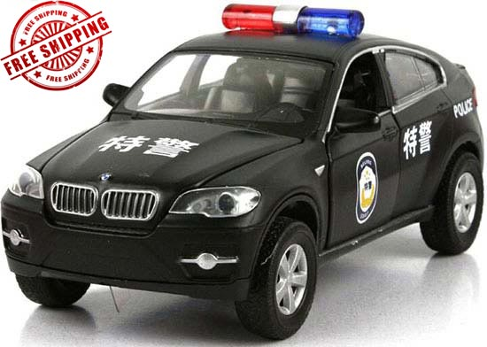 1:32 Scale White Police Kids Diecast BMW X6 Toy