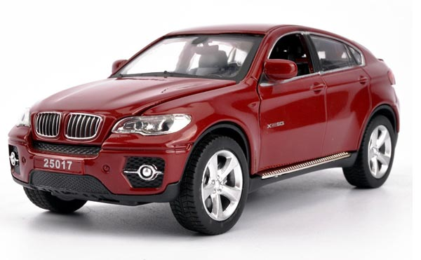 1:32 Black / White / Red Kids Diecast BMW X6 Toy