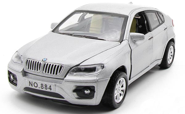 1:32 Scale Black /White / Silver / Red Kids Diecast BMW X6 Toy