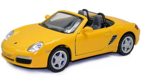 1:36 Scale Yellow / Blue / Silver Diecast Porsche Boxster S Toy