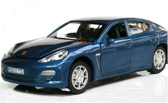 Blue / Red / Black Kids 1:28 Scale Diecast Porsche Panamera Toy