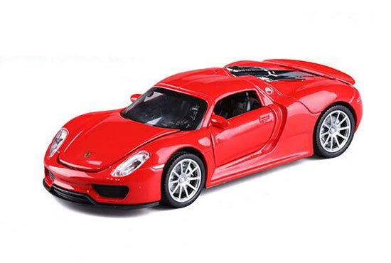 1:32 Golden / White /Red / Green Diecast Porsche 918 Spyder Toy