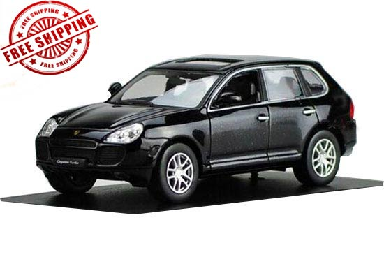 White / Black 1:43 Diecast Porsche Cayenne S Model