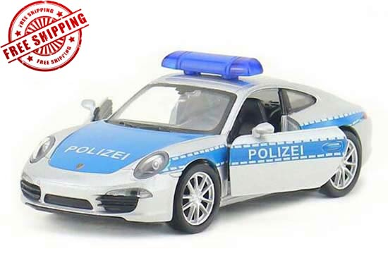 Welly Kids 1:36 Scale Police Diecast Porsche 911 Carrera Toy