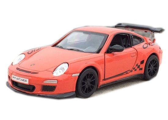 1:36 Gray / White / Red/ Black Diecast Porsche 911 GT3 RS Toy