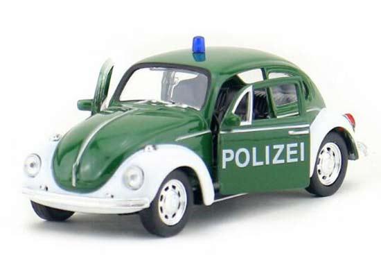Kids Green 1:36 Scale Welly Police Diecast VW Beetle Toy