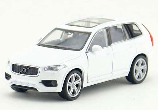 White / Blue Kids 1:36 Welly Diecast Volvo XC90 Toy