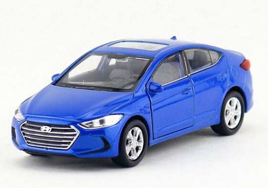 Welly Blue / Red Kids 1:36 Diecast Hyundai Elantra Toy