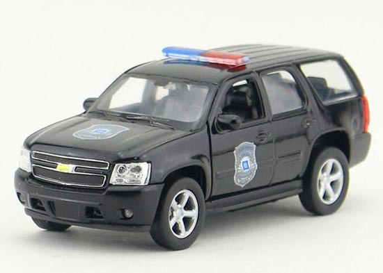 Welly Black Kids 1:36 Police Diecast 2008 Chevrolet Tahoe Toy