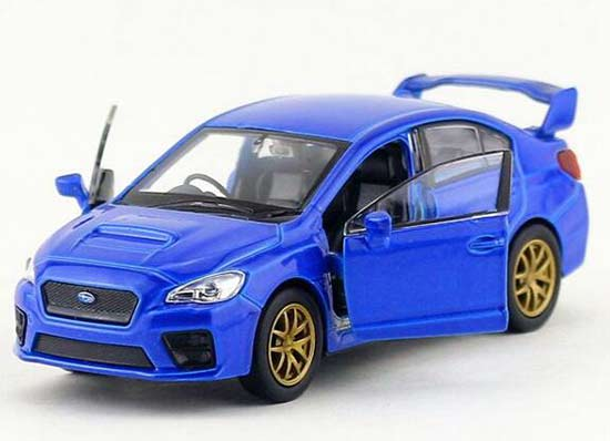 1:36 Kids Red / Blue Diecast Subaru Impreza WRX STI Toy
