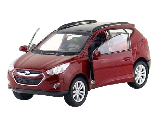 Red / White 1:36 Kids Welly Diecast Hyundai Tucson ix35 Toy