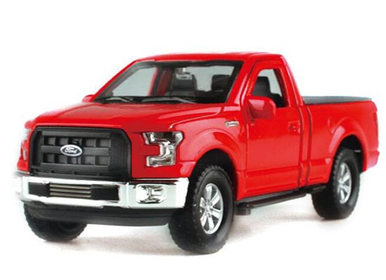 Red 1:36 Kids Welly 2015 Diecast Ford F-150 Pickup Truck Toy