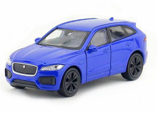 1:36 Kids White /Blue /Golden Welly Diecast Jaguar F-Pace Toy