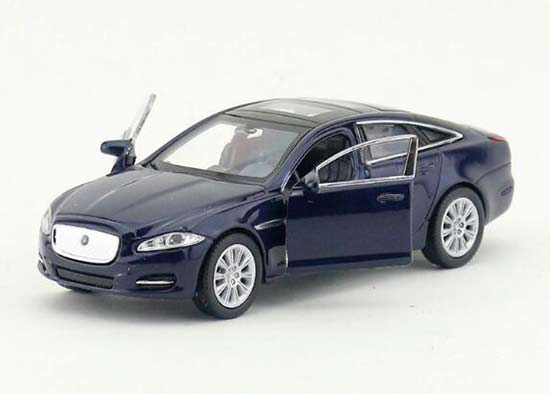 Welly 1:36 Deep Blue / White Kids Diecast 2010 Jaguar XJ Toy