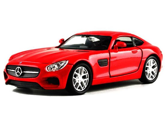 Welly 1:36 Red / Yellow Kids Diecast Mercedes Benz AMG GT Toy