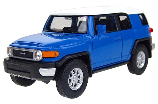Blue / Yellow Kids Welly 1:36 Diecast Toyota FJ Cruiser Toy