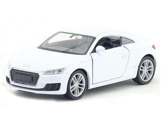 1:36 White / Red / Yellow Kids Welly Diecast Audi TT Coupe Toy