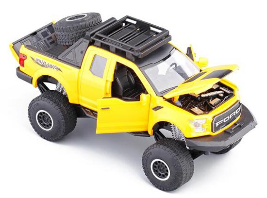 Kids Yellow / White / Black / Red Diecast Ford F-150 Pickup Toy